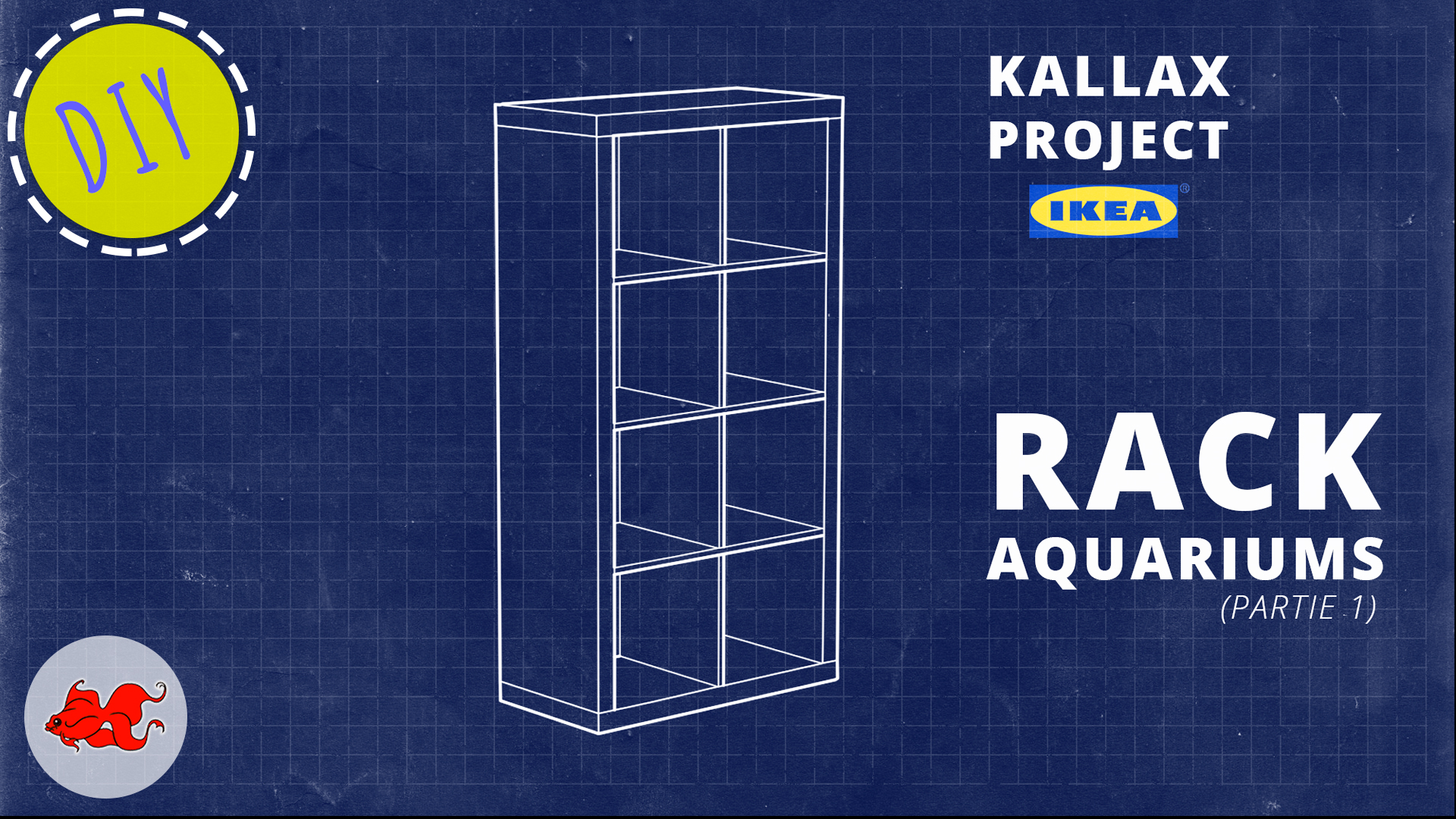 Rack aquariums Kallax Ikea